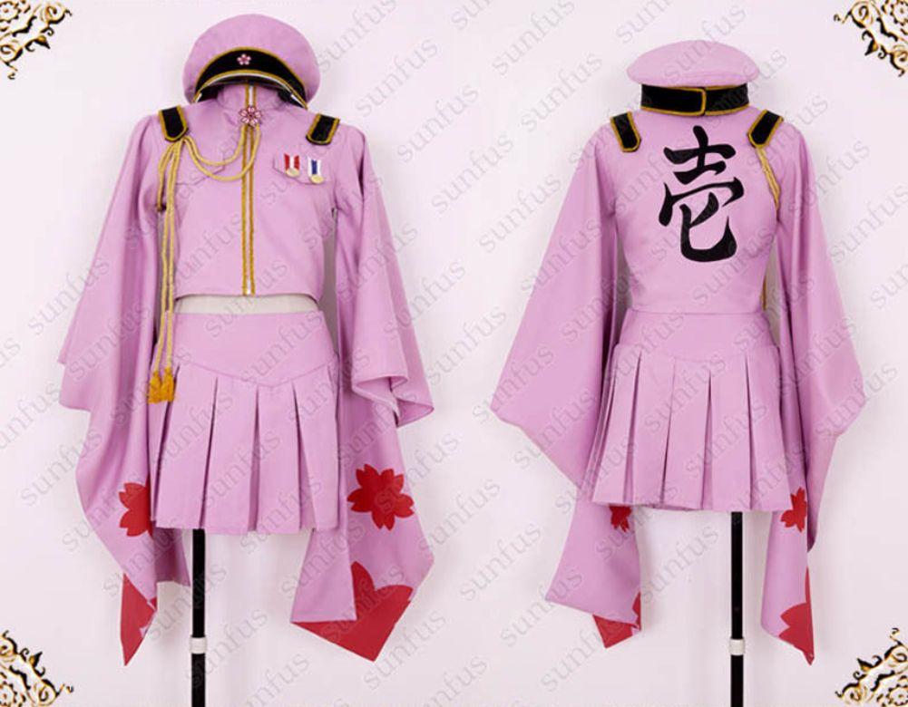... Vocaloid 2 Hatsune Miku Senbon Sakura anime Cosplay costume full set ...