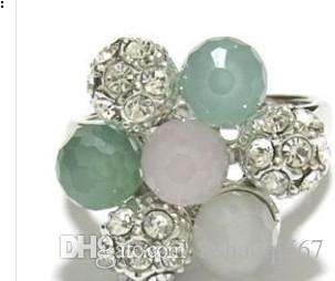 mmore cor diamante contas inlay anéis de pérola da senhora todo o tamanho (xysppfh) 5645745