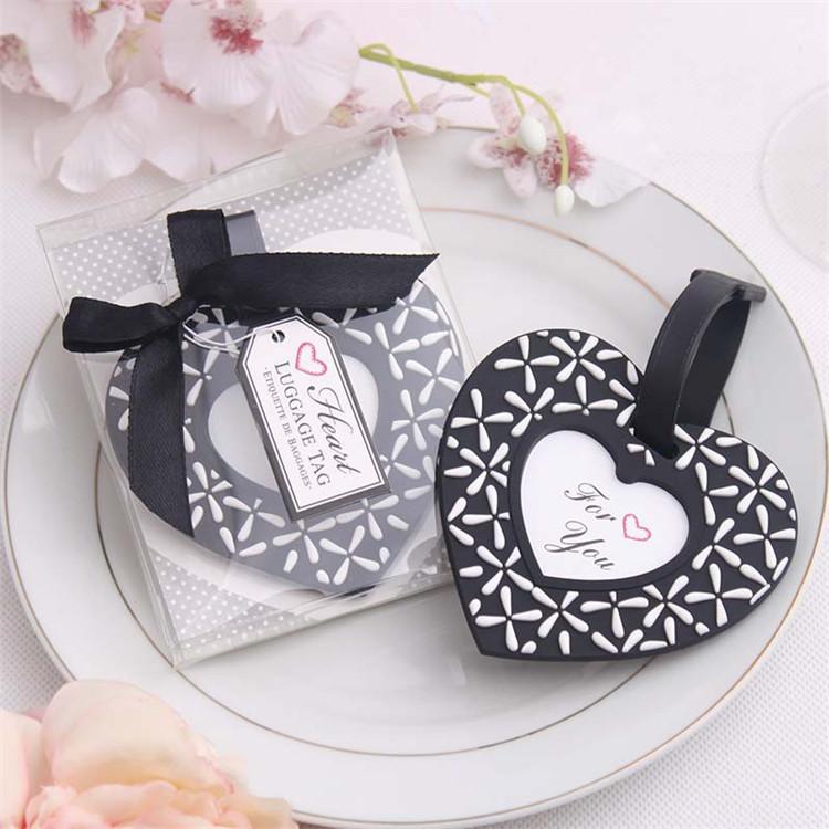 Hochzeitsbevorzugungsgeschenk und Werbegeschenke für Gast - folgen Sie Ihrem Herz-Schwarzweiss-Gepäckflugzeugumbau-Partysouvenir