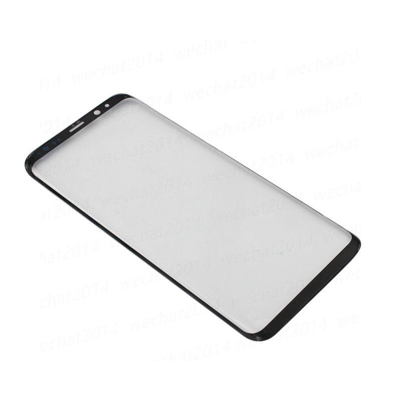 50PCS 삼성 전자 갤럭시 S8 G950 S8 플러스 G955 무료 OEM 전면 외장 터치 스크린 유리 렌즈 교체 DHL
