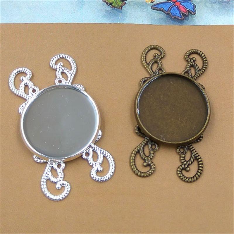 BoYuTe Nuovo prodotto 20 pezzi impostazioni cabochon 20mm materiale in ottone all'ingrosso gioielli fatti a mano d'epoca fai da te