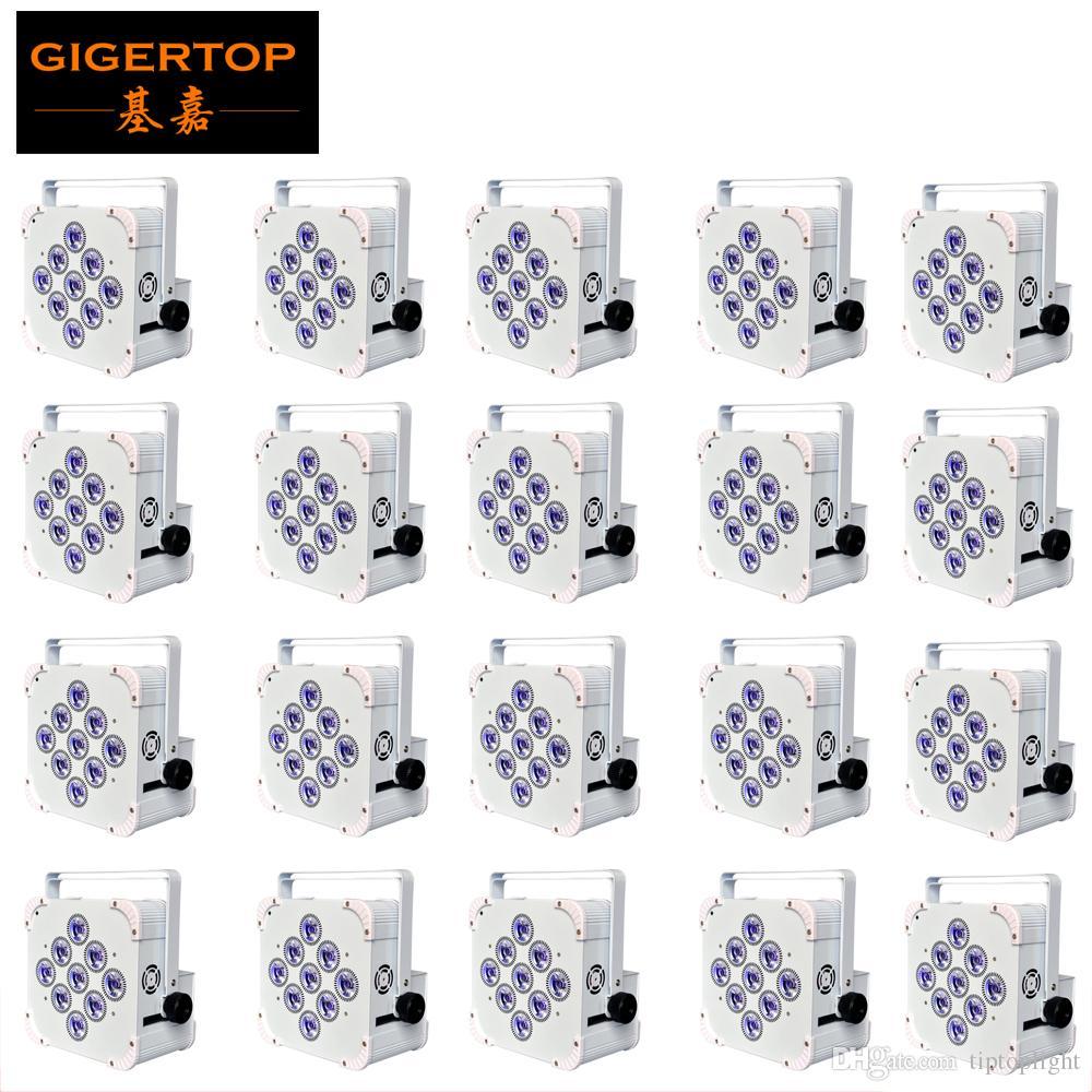 20 Ünite IRC 9x18W Pil Kablosuz Led Par Işık Siyah / Beyaz Kılıf İsteğe 2.4G Anten 25 Derece Lens TP-B07 Gömülü FREESHIPPING