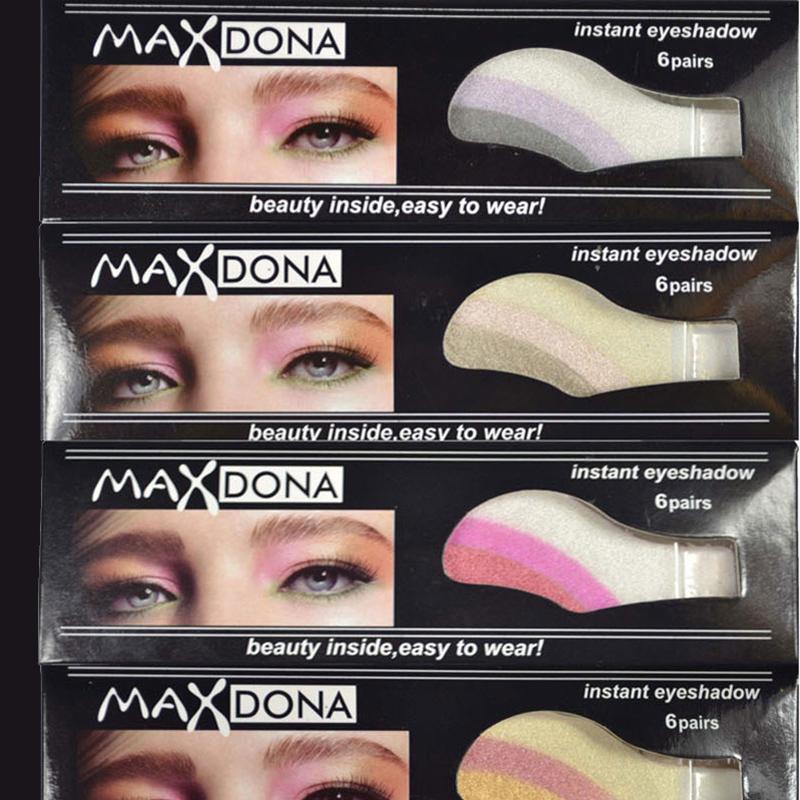 Gros-6 paires Outils de maquillage portables Bâtonnet de fard à paupières unique Couleur Dazzle autocollants pour ombre à paupières Majic