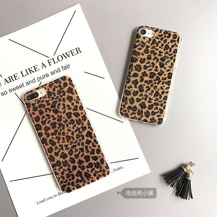 Housses Telephone Portable Coques Léopard Sexy Pour Iphone 6s 7 Plus Un Étui De Luxe Mignon Cool Couverture Arrière 360 Protect Shell Pour Iphone 6 ...
