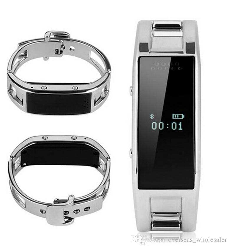 Intelligentes Armband D8 Bluetooth Eignungs-Verfolger-Kamera-Anzeigen-Edelstahl-tragbares Armband für androide IOS-Telefon-Uhr