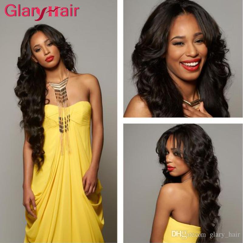 Glary Hot Sale Real Human Hair Extensions Wefts Mink Brazilian Hair Bundles Straight Unprocessed Virgin Hair Bundles 4 5 6 Pieces Free Ship