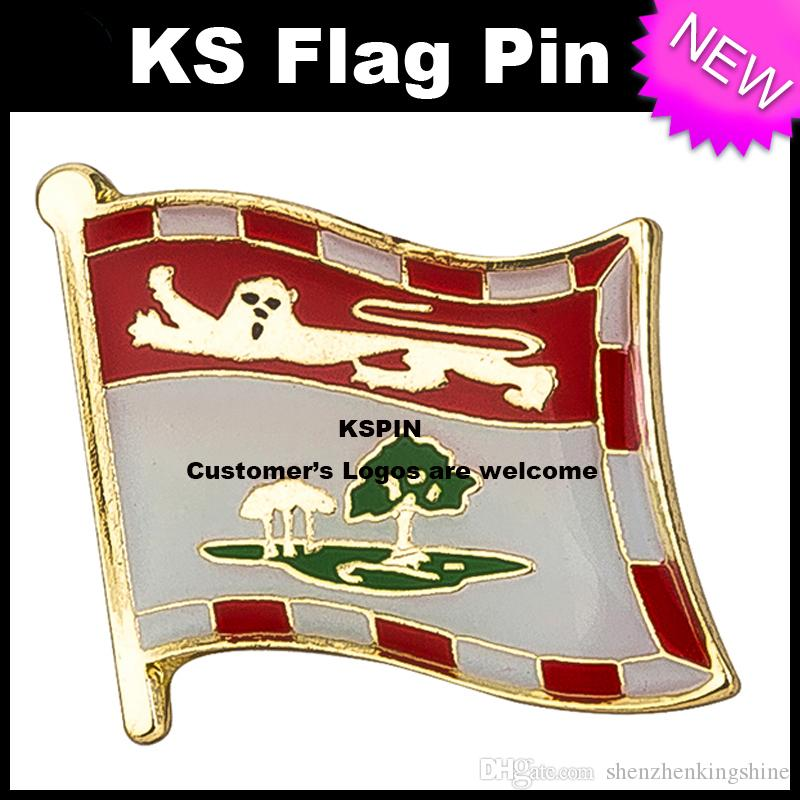 PEI Bandiera Badge Bandiera Pin 10pcs molto Spedizione gratuita KS-0226