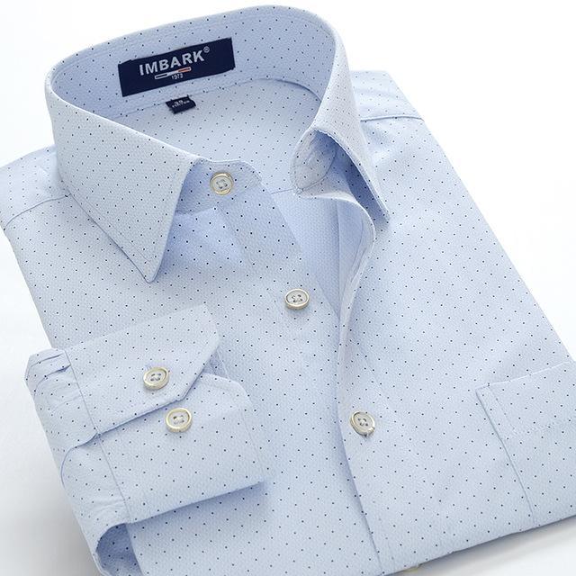 Atacado- 2016 nova chegada homens moda polka Dot camisas de manga comprida primavera outono super grande alta qualtiy algodão plus size M - 9XL 10XL