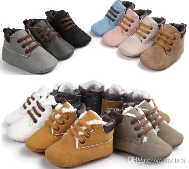 Оптовая Детские сапоги первый ходунки обувь горячие продажа детские снегоступы мода новорожденных сапоги зимние детские обувь зима bebe обувь