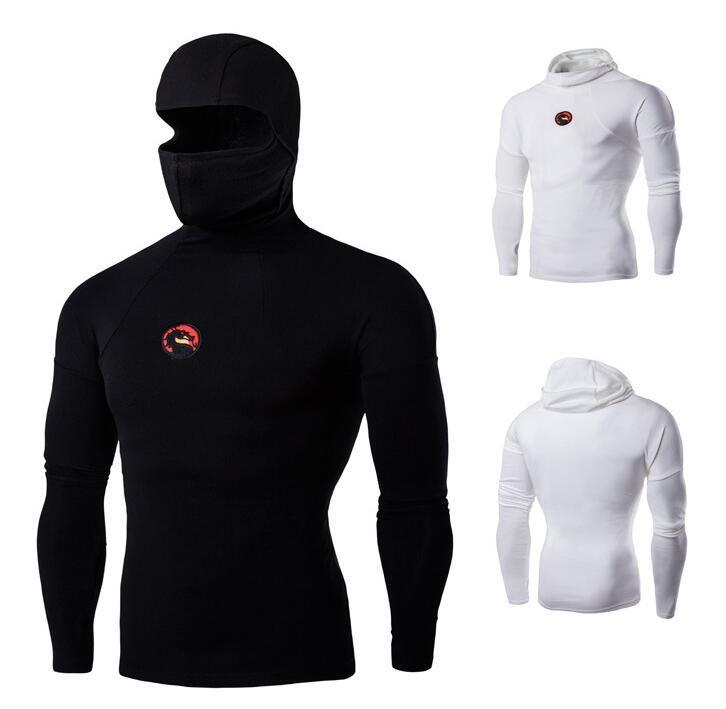 Envío gratuito: la nueva camiseta de manga larga sin forro para hombre de kung fu elástica para hacer la prenda superior sin forro de la camiseta de hombre