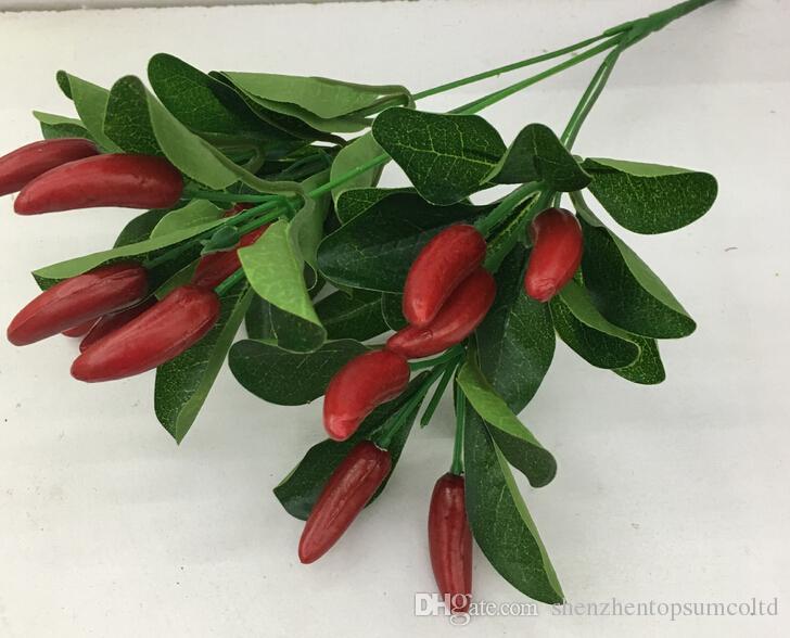 Fleur Artificielle Petit Chill Bunch Faux Poivre Rouge Faux Organiser Des Plantes