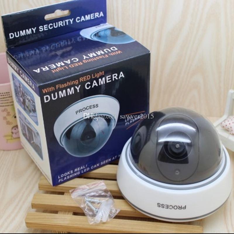 무선 홈 보안 가짜 카메라 시뮬레이션 된 비디오 감시 실내 / 실외 감시 더미 Ir Led 가짜 돔 카메라 소매 상자에