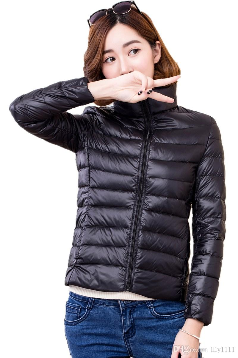 Shanghai Story Abrigo Mujer Invierno 90% White Duck Down Ultra Light Down Jacket Women Winterjas Dames