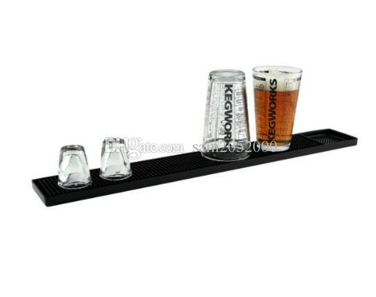1Pcs 23inch Rectangle Rubber Beer Bar Service Spill Mat for table black waterproof pvc mat kitchen glass coaster placemat