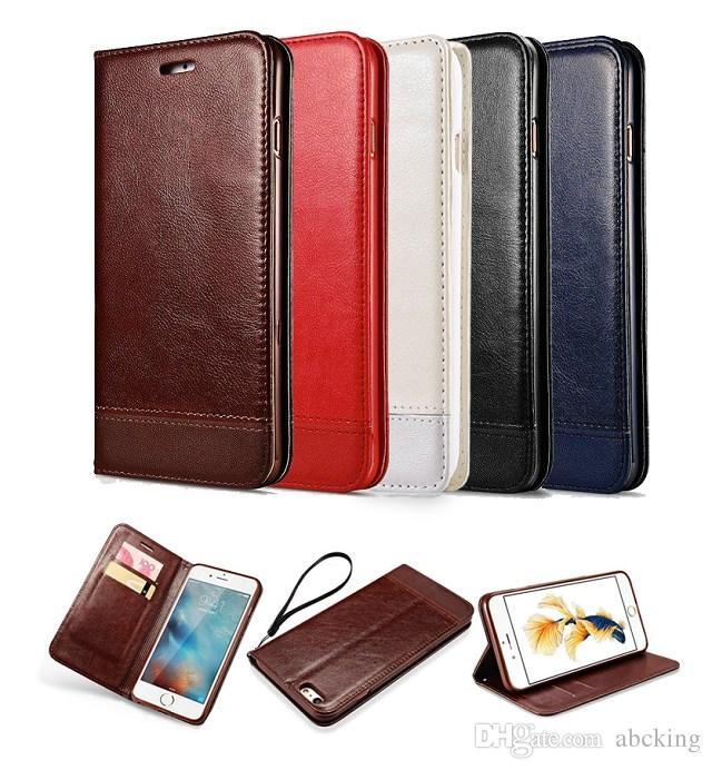 Luxury Leather Magnetic Flip Wallet Case For iPhone 11 Pro Max XS XR 8 7 6 Plus Galaxy S10 S10E Note 10 9 8 S9 S8 S7 Edge Plus Wallet Cover