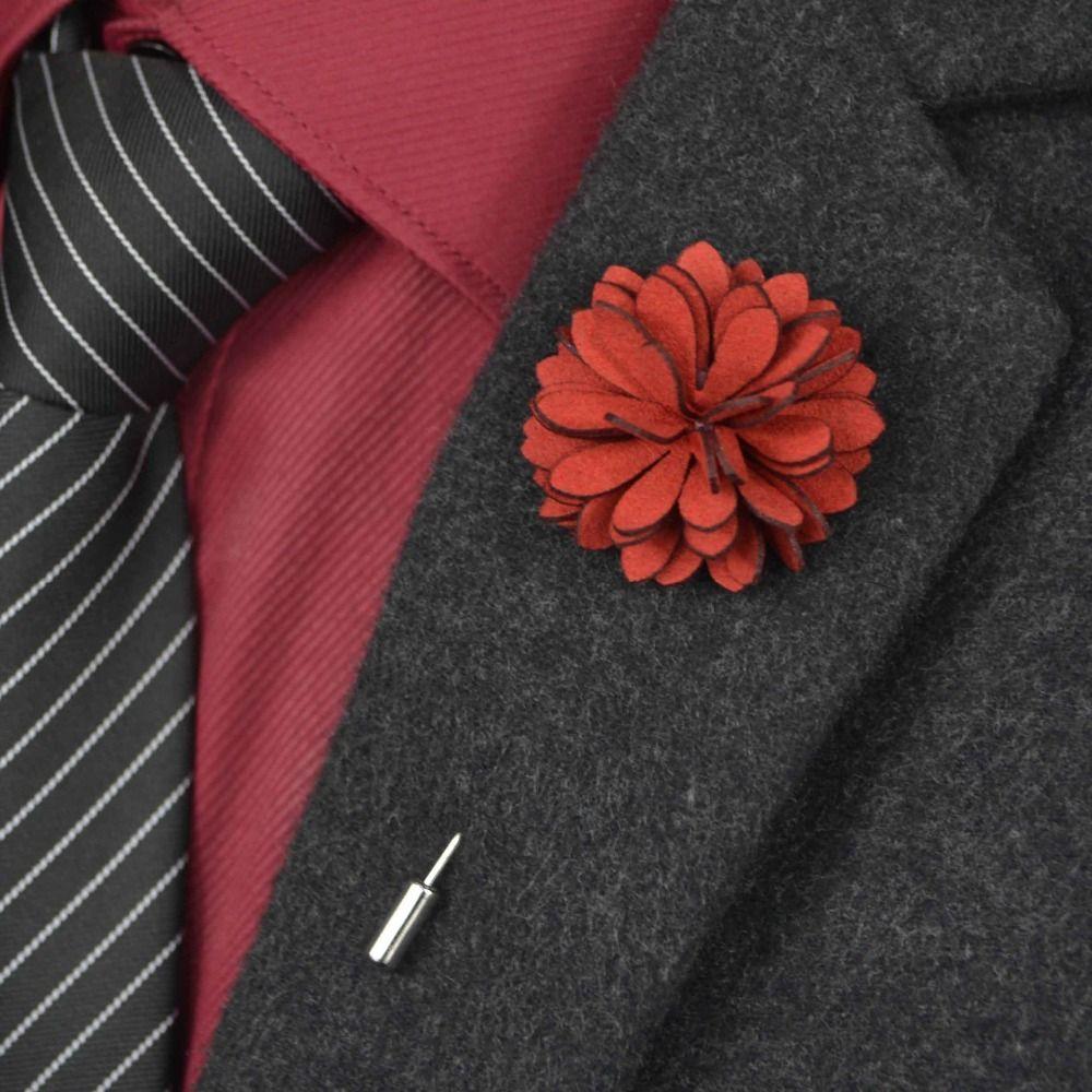 Mens jacket brooch - Fashion Men Lapel Flower Pin Brooches For Men Suit Wedding Brooch Jacket Lapel Pin Brooch Solid