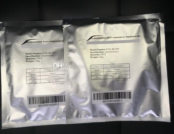 Cryo Pad Anti Freezing Membrana 27 * 30 cm 34 * 42cm Membrana anti-congelar Membrana Anti-congelación Pad Protero para la máquina de congelación de grasa