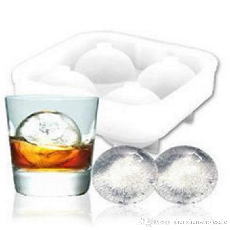 Round Ice Cube Ball Bar Tray Silicon Whiskey Sphere14 Small Ice Hockey Ice Tray