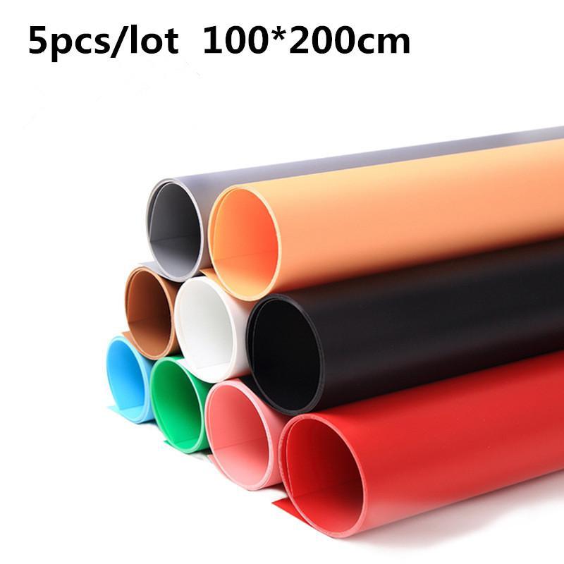Freeshipping 5pcs / lot 100X200CM 40X80inch PVC المواد المضادة للتجاعيد الخلفيات خلفية للصور الاستوديو التصوير