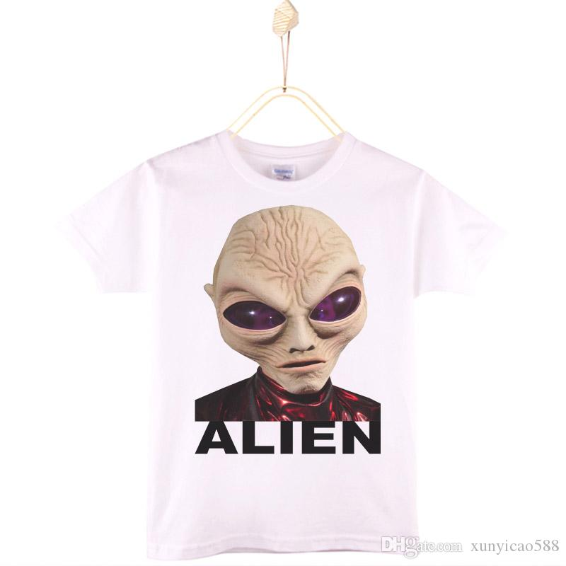 2017 Special Discount Kids Clothes Children T-shirt Cotton ET Alien Boys T Shirts Girls Tops Baby Camiseta 4T-12T Free Shipping