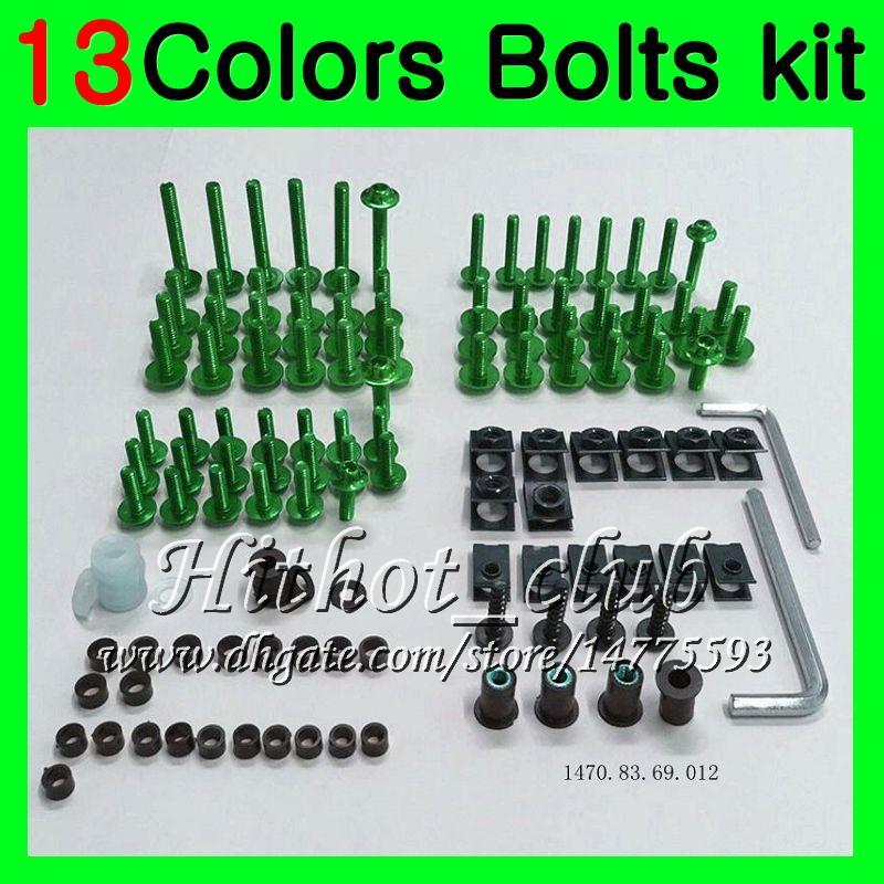Fairing bolts full screw kit For KAWASAKI ZX12R 02 03 04 05 06 ZX 12R ZX-12R 2002 2003 2004 2005 2006 Body Nuts screws nut bolt kit 13Colors