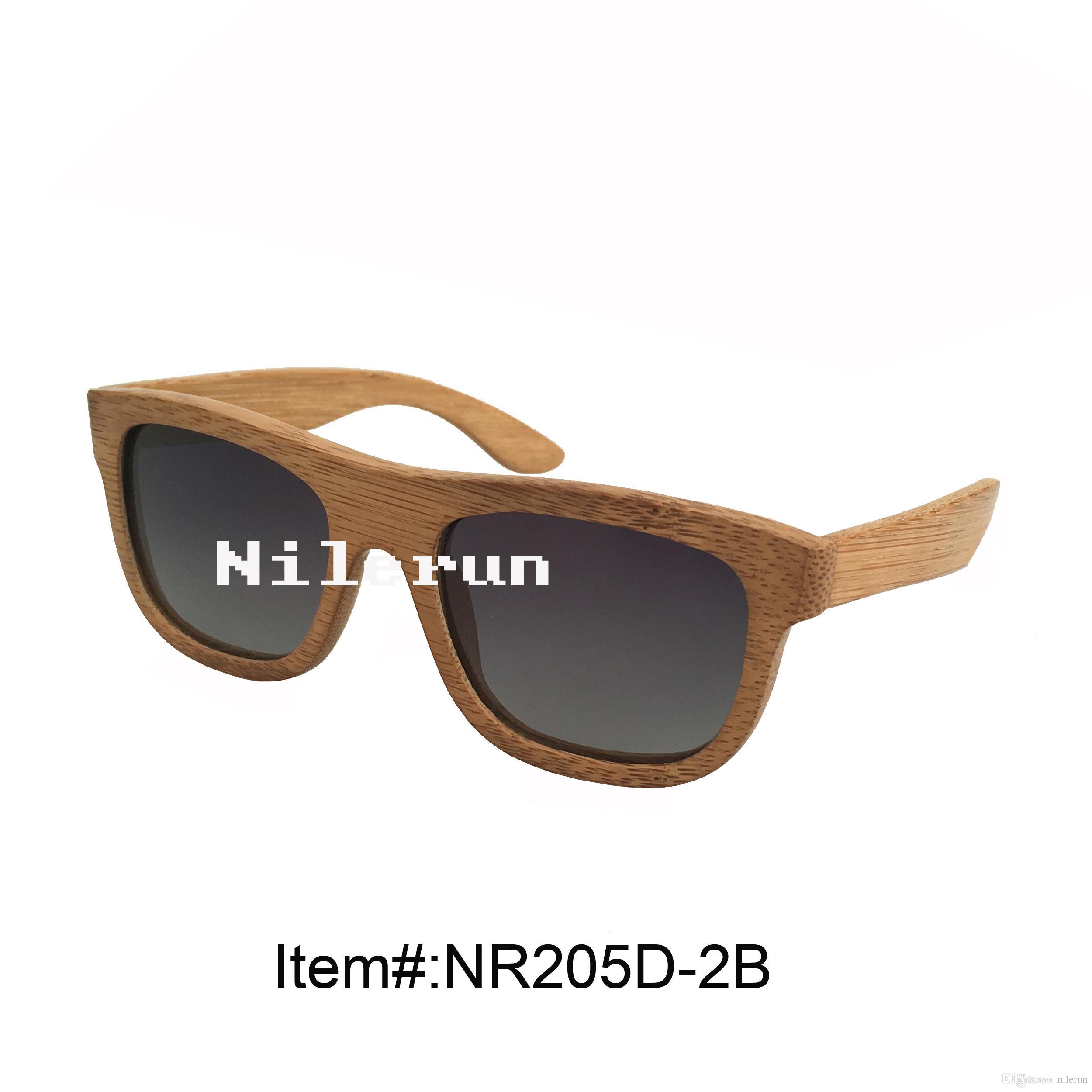 Sonnenbrillen aus karbonisierter Bambusbrille