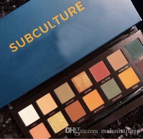 2017 حار ماكياج subculture ظلال العيون لوحة 14 ألوان محدودة ظلال العيون لوحة مع فرشاة ظلال لوحة شحن مجاني