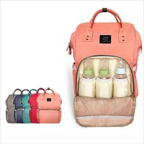 الأم حقيبة ماركة الحفاضات أكياس الأزياء الأم حقيبة حفاضات الأمومة حقائب كبيرة في أنيق سفر حقائب المنظم جديد b2179