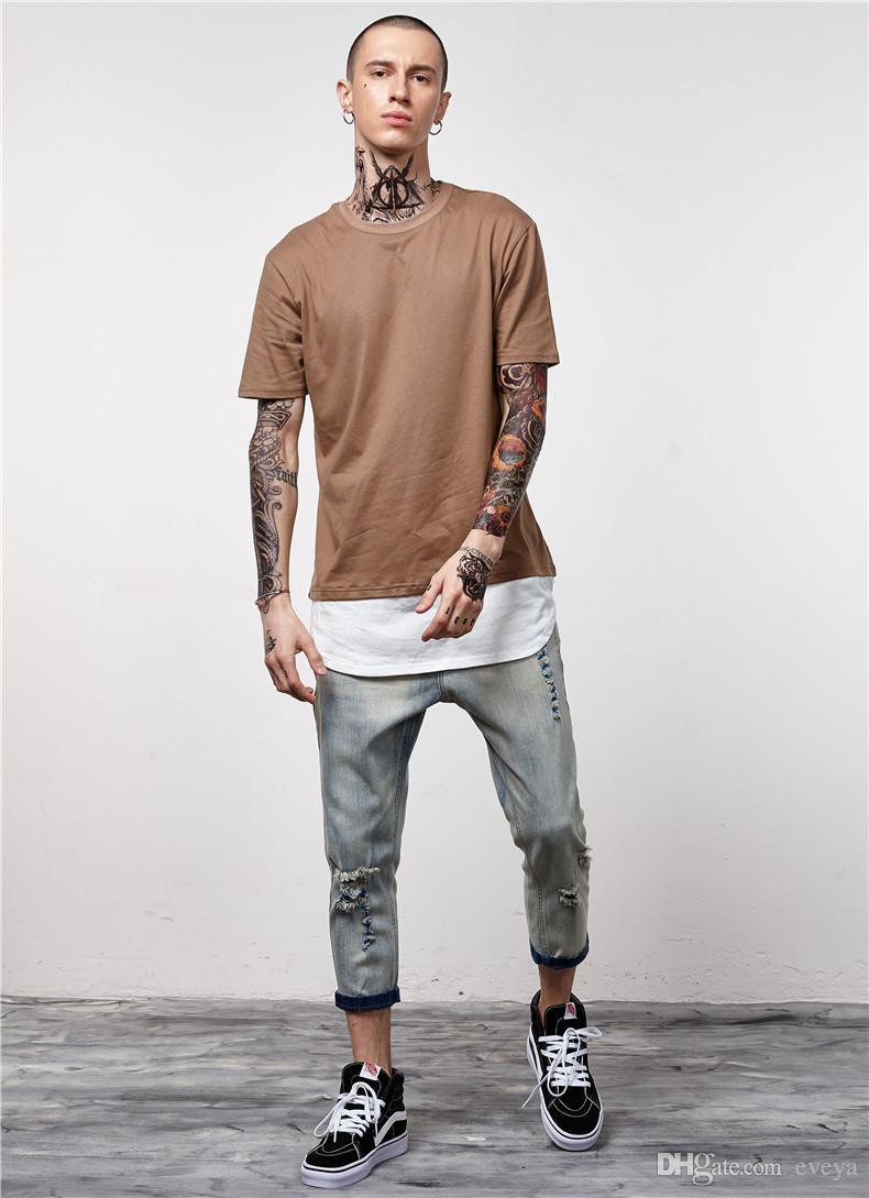 attraente e resistente a basso prezzo offrire Acquista Nuovo Stile Estivo In Cotone Uomo Abbigliamento Uomo Slim Fit T  Shirt Magliette Casual Mens Tops A $15.91 Dal Eveya   DHgate.Com