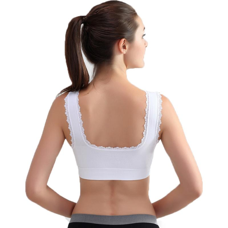 9e9ae9fb98665 Women Lace Sports Bras,Plus Size Breathable Push Up Fitness Underwear Gym  Yoga Vest Short Tops