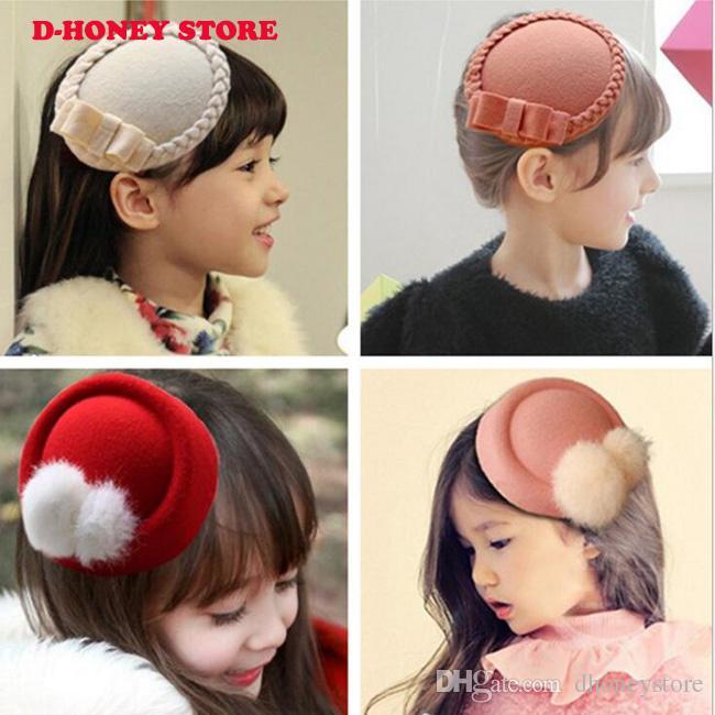 2020 Chapeau Baby Girl cheveux clip style Accessoires Pour Barrette enfants Cadeaux Hairclip Ornements Décorations tête épingles à cheveux