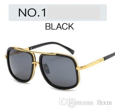 Occhiali da sole moda all'ingrosso 6663 signore maschili occhiali da sole retrò luce piatta