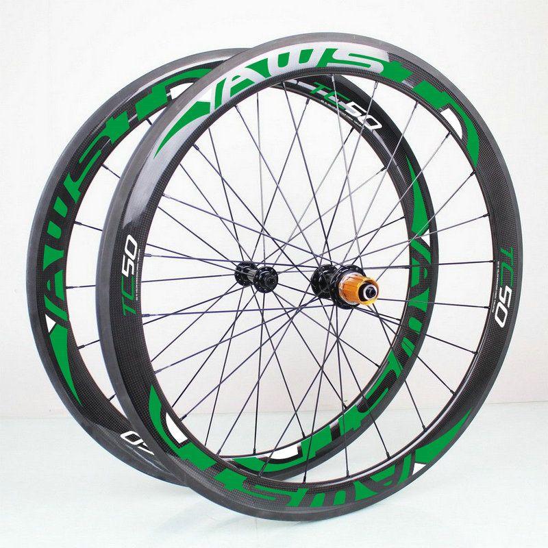 Moyeux en carbone Powerway R36 d'origine AWST 50mm carbone route roues Clincher Tubular roue de vélo ensemble 50mm carbone vélo Wheelset livraison gratuite