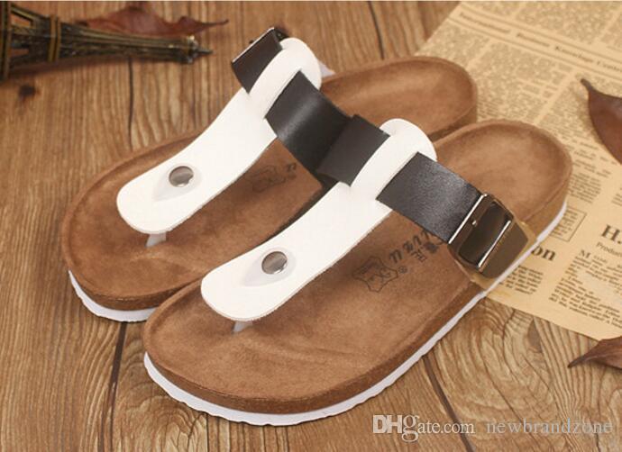 Aşıklar Rahat Sandalet Moda mantar terlik Erkek Yaz Erkek Kadın plaj terlik sandalet Kadın çevirme kaymaz eğilim