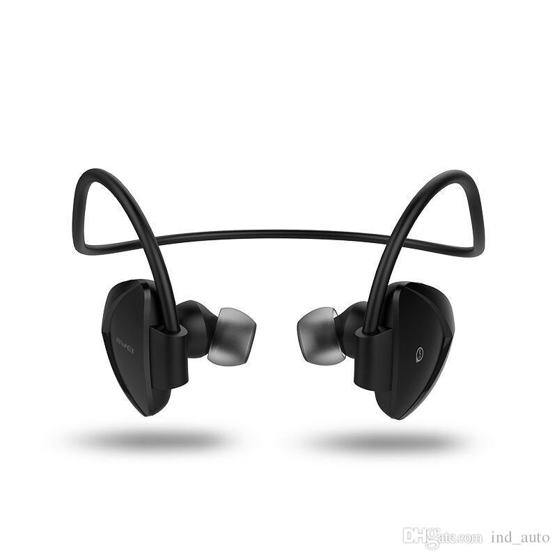 AWEI Handsfree Call Bluetooth Earphone CSR4.1 Wireless Stereo Extra Bass Headset Smart Noise Canceling Sports Headphones For IOS And Android