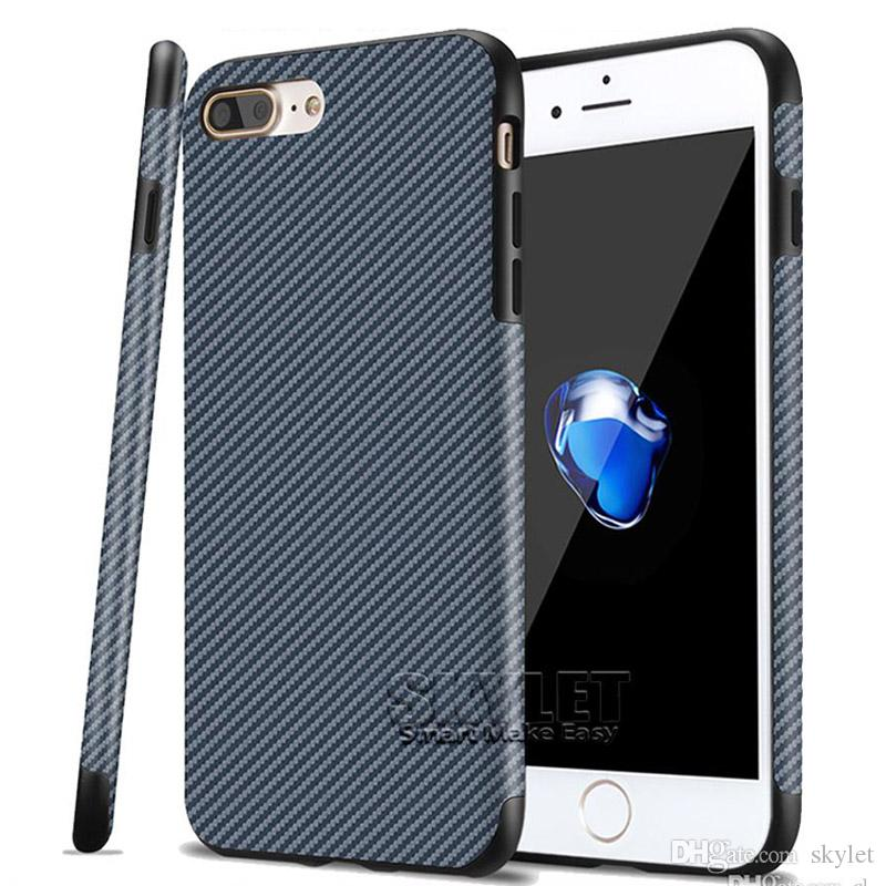 For Newest iPhone XS MAX XS 6.5 inch Back Cover Case Soft Carbon Fiber Cover Cases for iPhone 7/8 Plus iPhone X with OPP Bag