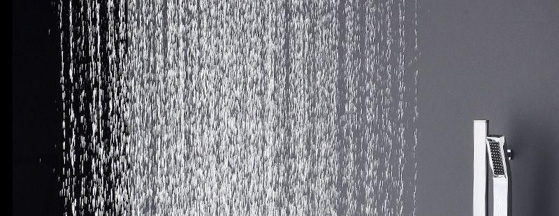 hm Bathroom Shower Head with 4 Ways SUS304 20inch Rain & Mist & Brass Slide Bar & Brass Spout & Brass Handheld Shower Set (2)