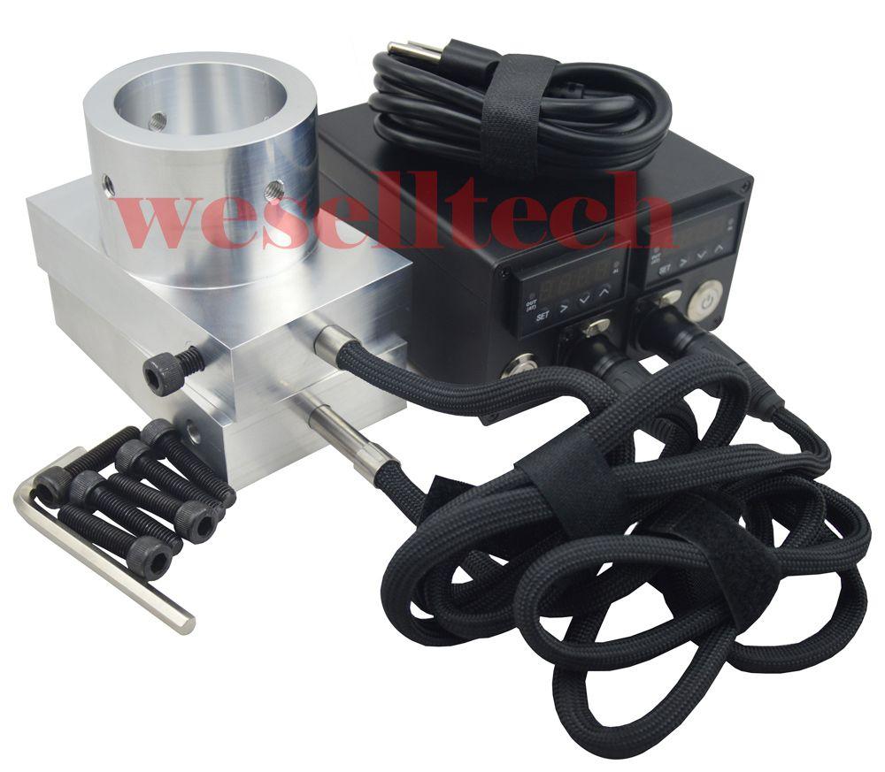 "3x5 ""Placas de presión de resina Doble calefactor enail 6061 Caja de controlador de temperatura de placa de aluminio con varilla de calentamiento para placa de prensa de resina"
