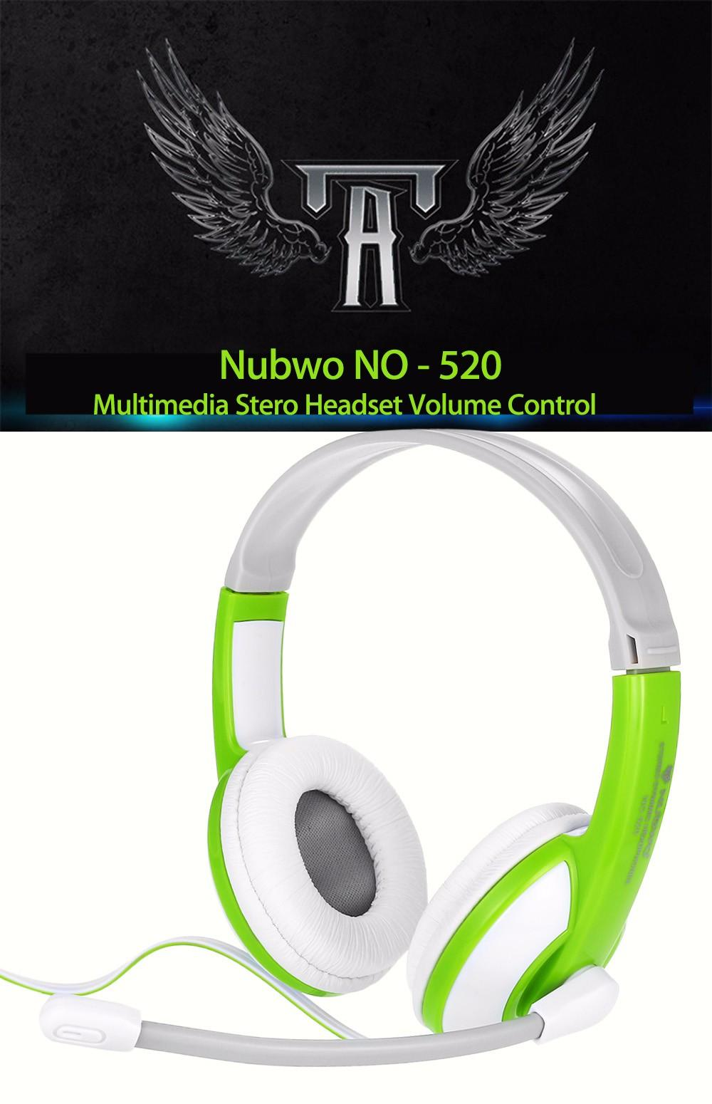 Nubwo No 520 Game 3.5mm Wried Headphone Wired Headphone With ...