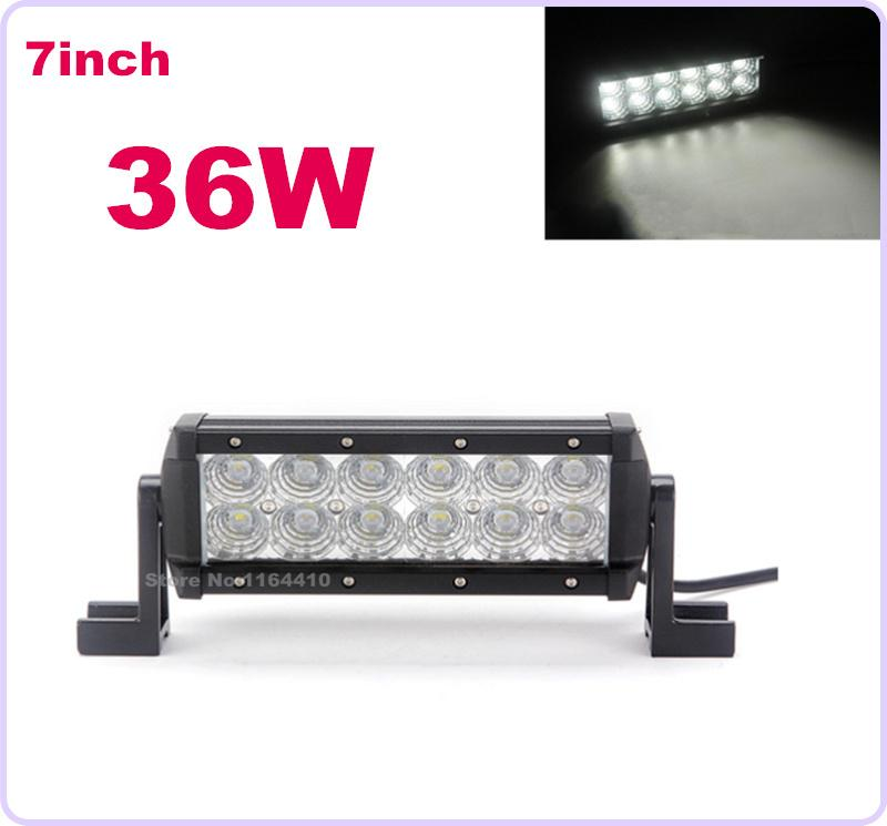 "7"" 36W LED Work Driving Light Bar Tractor Boat Off-Road 4WD 4x4 12V 24v Truck SUV ATV Spot Flood Combo Super Bright"