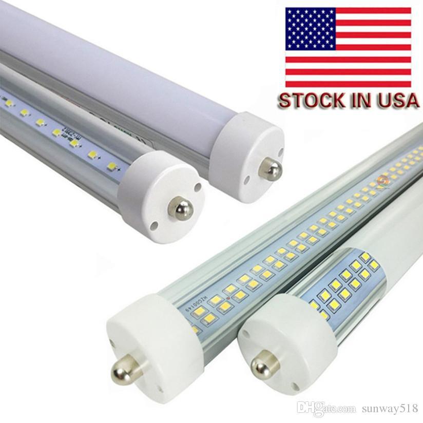 Toptan! sıcak Yeni 384PCS SMD çift sıra LED 72W tüp ışık FA8 8FT 45W floresan lamba T8 tüp AC85-265V 8 ft tüp yüksek lümen
