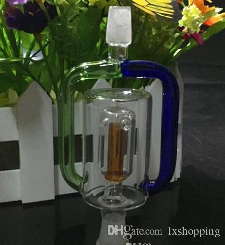 Стеклянная трубка доковый фильтр, цвет, стиль случайная доставка, водопроводные трубы, стеклянные бонги, стеклянные кальяны, курительная трубка