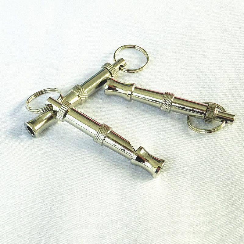 5 cm flute Pet stainless steel dog whistle can mediate freedom ultrasonic pet training flute flute dog whistle