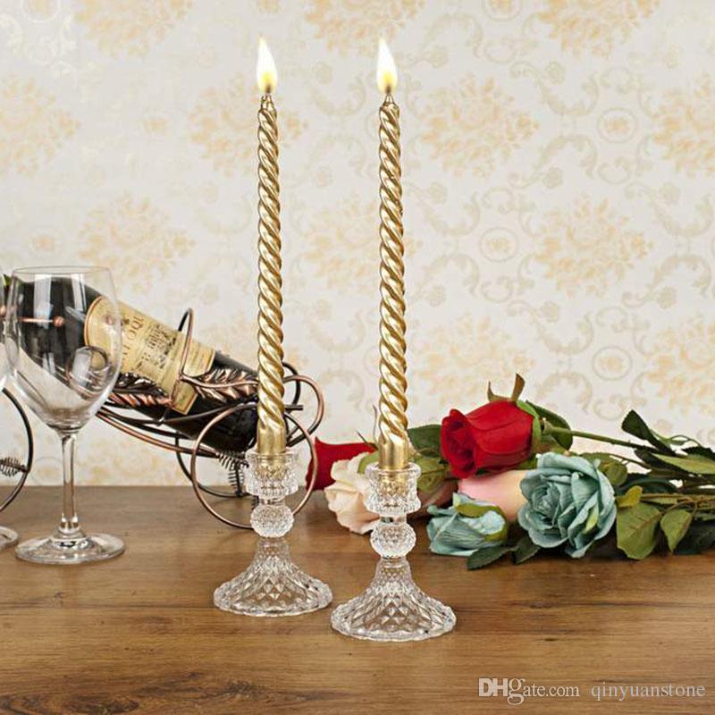 الكريستال والزجاج شمعة حامل الرئيسية الديكور الزفاف الشمعدانات شمعدان مجموعات الديكور شمعة عصا