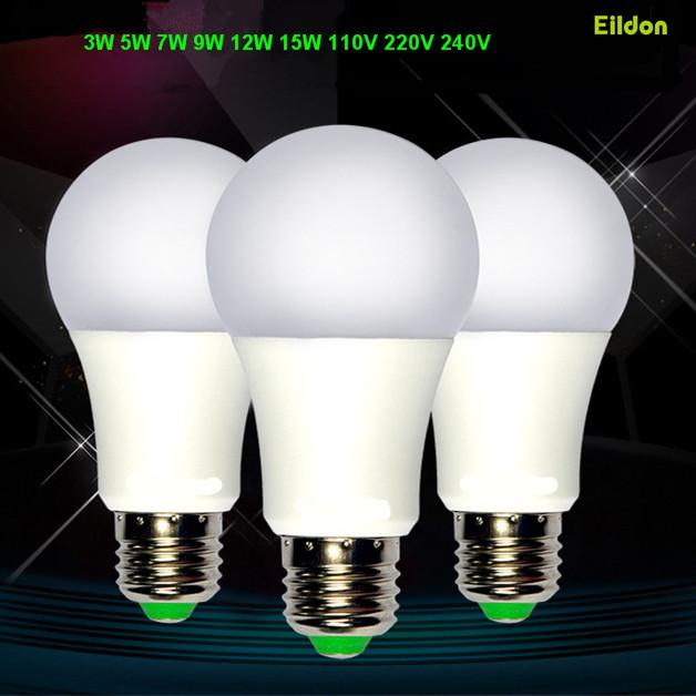 LED E27 E14 B22 لمبة مصباح 15W 12W 9W 7W 5W-3W AC85-265V عكس الضوء يعتم اللون مصابيح الإضاءة مباشرة من شنتشن الصين بالجملة مصنع