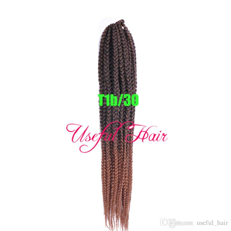 3s box braids twist synthetic braiding hair crochet braids hair extensions 24HOURS CUSTOMERS SERVICE jante collection Medium Auburn HaiR