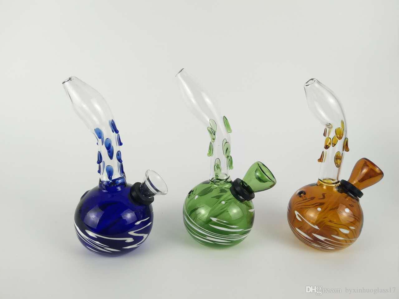 стеклянный кальян h; 16cm d: 6cm стеклянный кальян стеклянная водопроводная труба (цвет случайный)