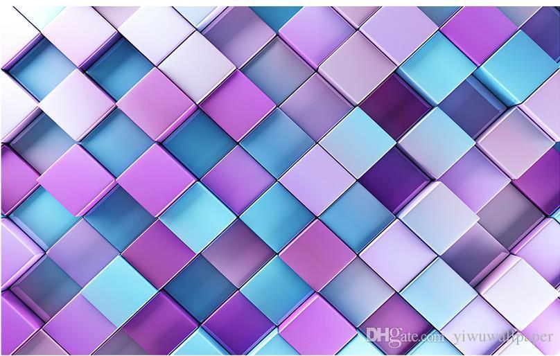 Top Classic 3d European Style Colorful Block Ktv Backdrop Mural 3d