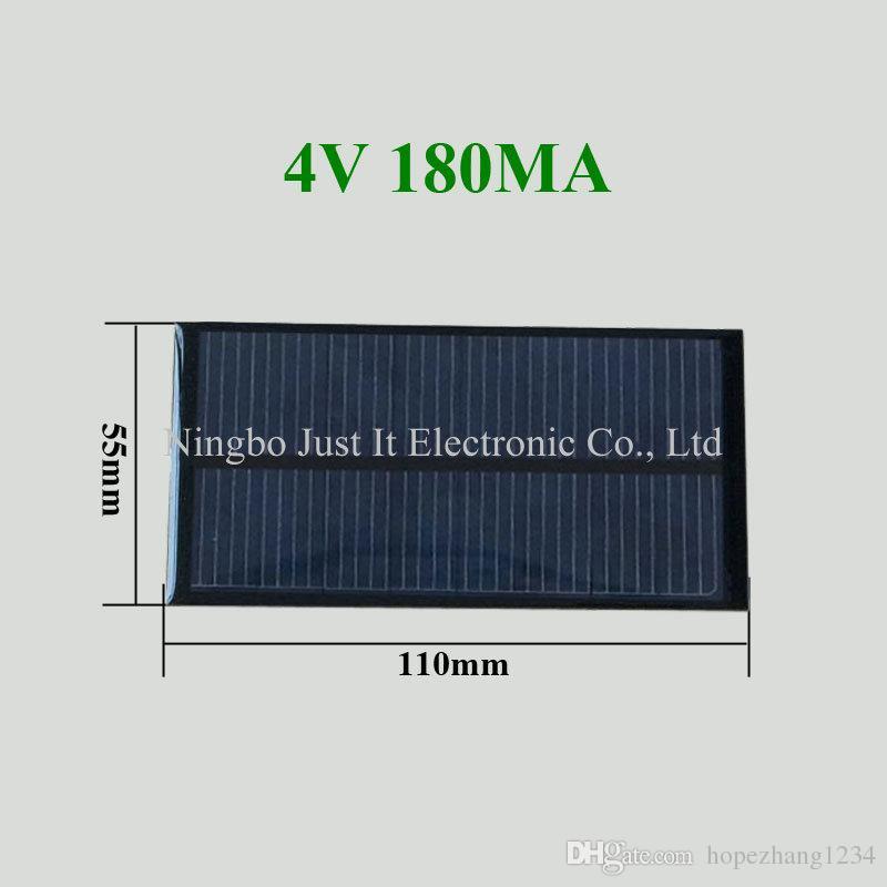 50pcs / lot راتنجات الايبوكسي الصغيرة لوحة للطاقة الشمسية 4V 180mA 110 * 55mm