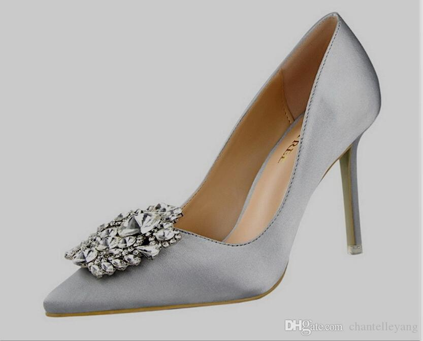 champagne/grey/black/red/pink Brdial Shoes Silver High Heel ...